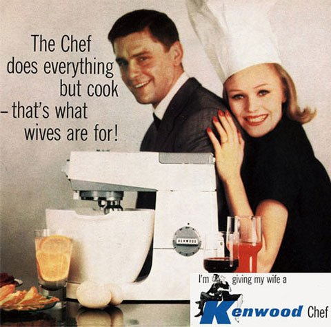 An outdated ad for the Kenmore Chef.