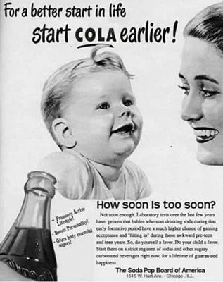 """Soda Pop """"Advertising Hall of Shame"""" outdated ad"""