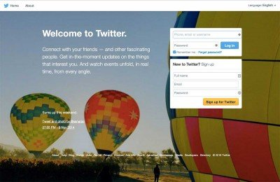 Getting Started on Twitter - Sign Up