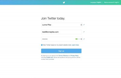 Getting Started on Twitter - Screen 1