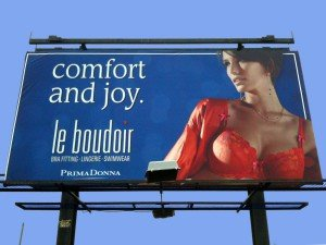 Le Boudoir billboard - Comfort and Joy