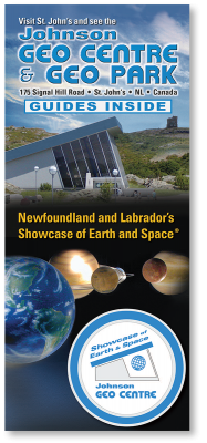 Brochure design in St. John's: Johnson GEO CENTRE