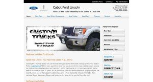Website Design in St. Johns - Cabot Ford Lincoln