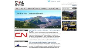 Website Design in St. Johns - Coal Association of Canada
