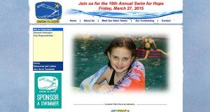Website Design in St. Johns - Swim for Hope